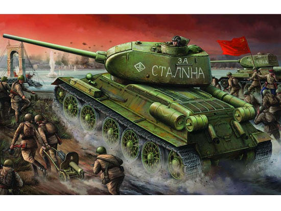 Trumpeter 1/16 T-34/85 model 1944 Fty.174