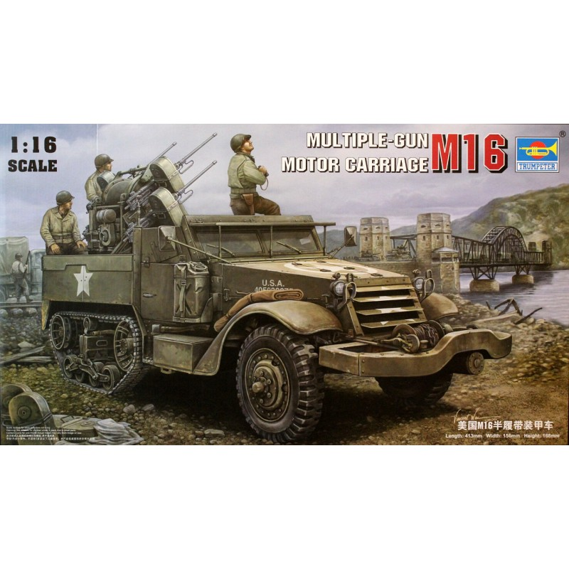 Trumpeter 1/16 M16 Multiple-Gun Motor Carriage