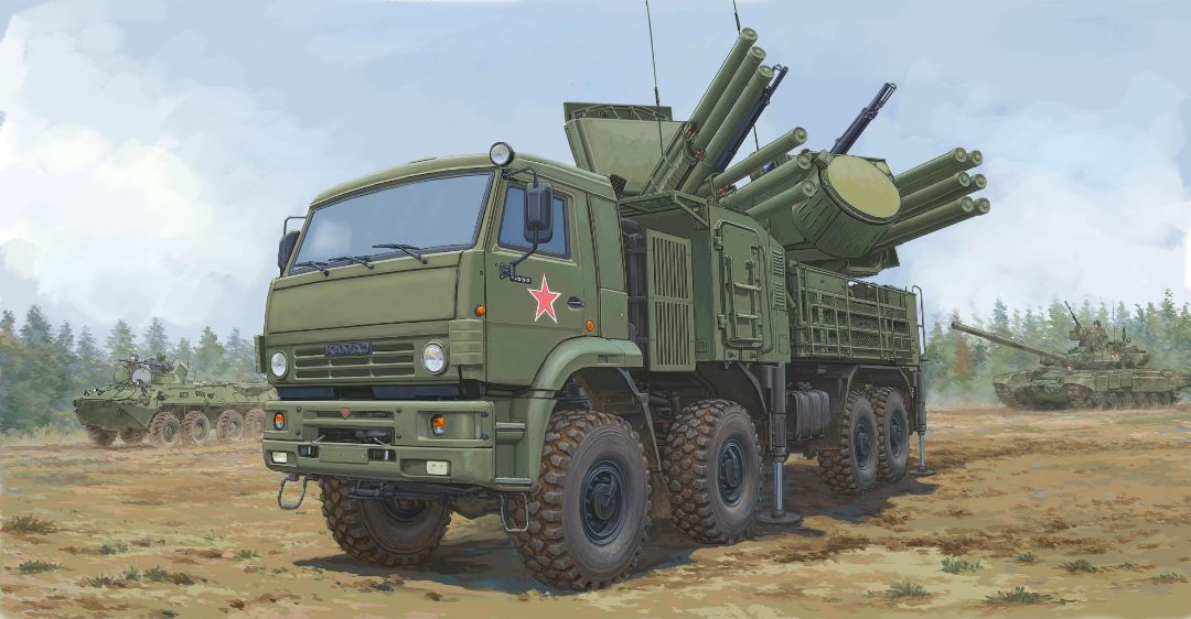 Trumpeter 1/35 Russian 72V6E4 Combat Vehicle of 96K6 Pantsir -S1