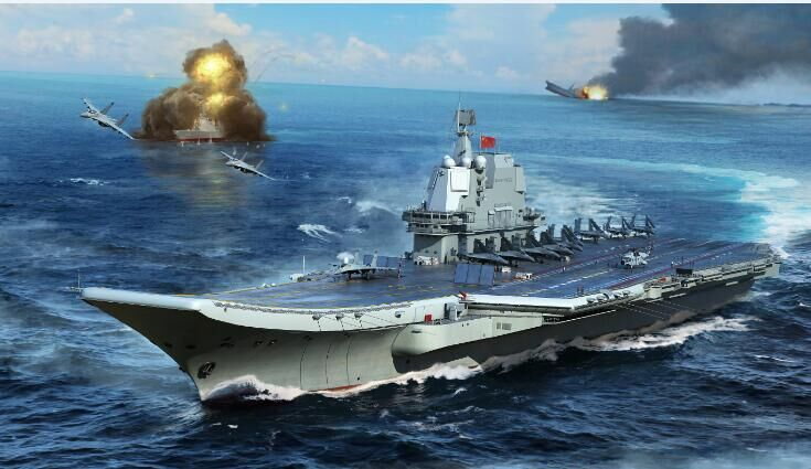 Trumpeter 1/700 PLA Navy type 002 Aircraft Carrier