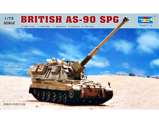 Trumpeter 1/72 British AS-90 self-propelled howitzer
