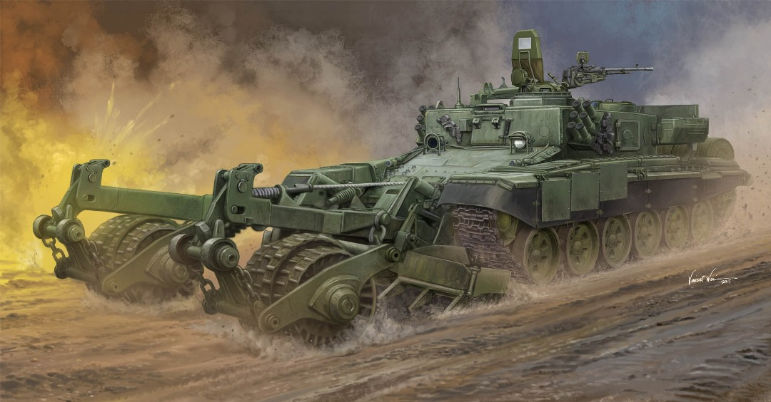 Trumpeter 1/35 Russian Armored Mine-Clearing Vehicle BMR-3