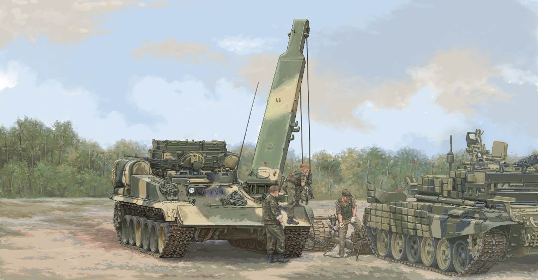 Trumpeter 1/35 Russian BREM-1M Armoured Recovery Vehicle
