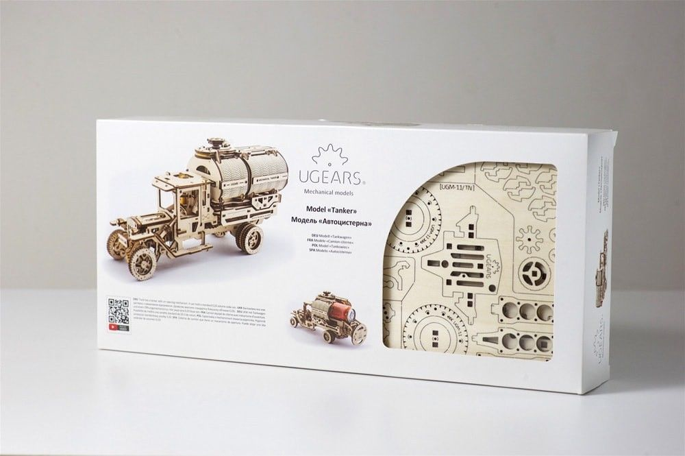 UGears Mechanical Tanker Truck - 594 pieces (Advanced) - Click Image to Close