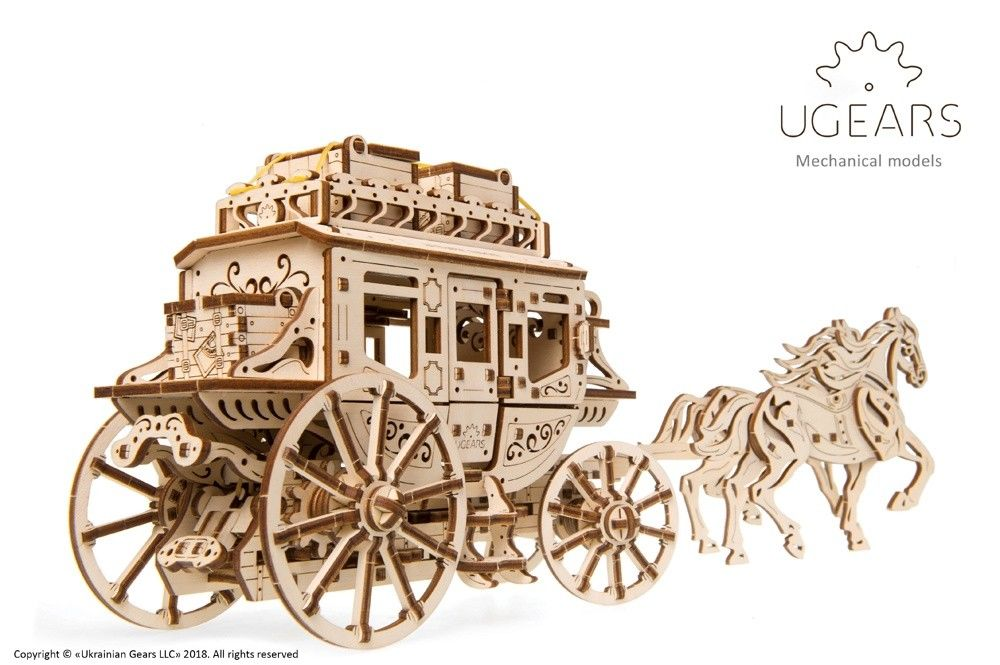 UGears Stagecoach - 248 pieces (Medium) - Click Image to Close