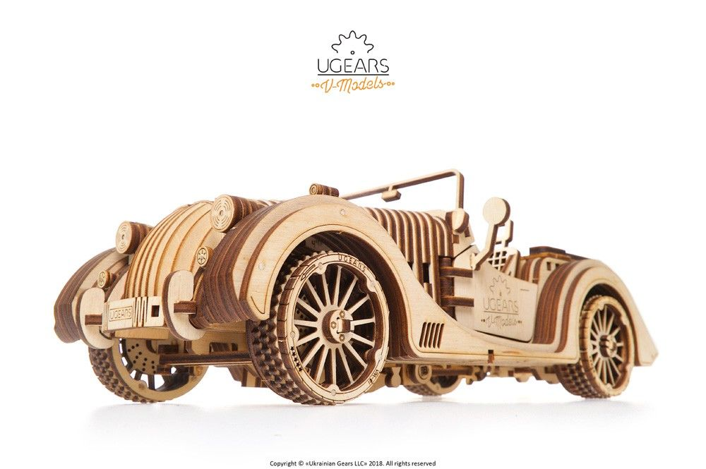 UGears Roadster VM-01 - 437 pieces (Advanced) - Click Image to Close