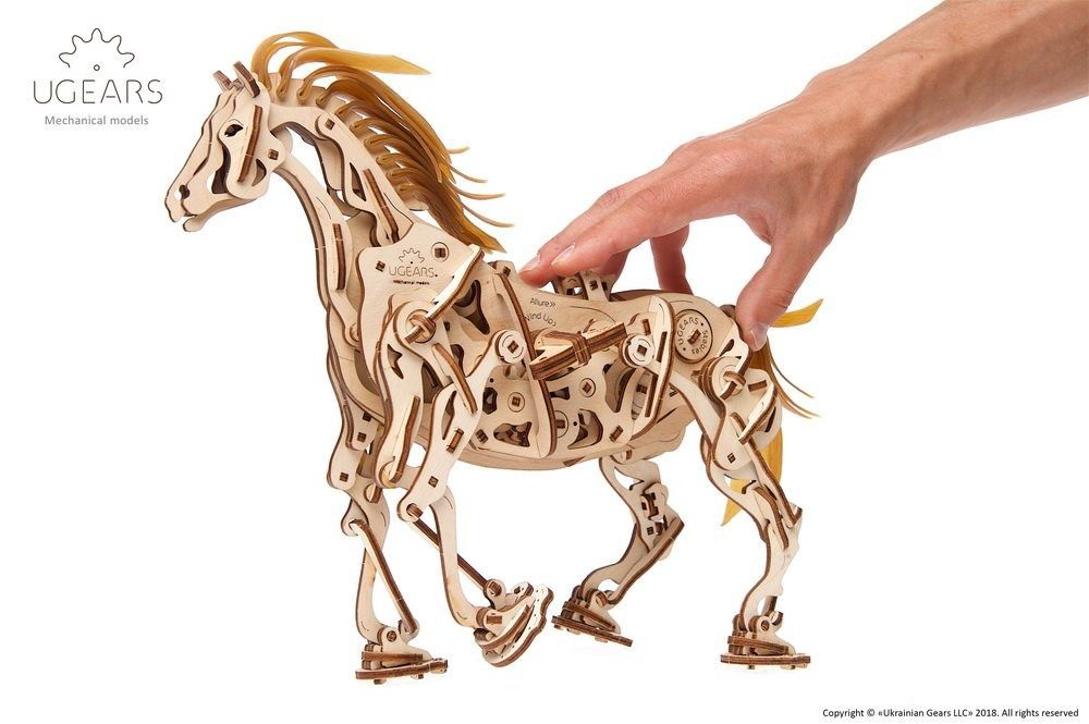 UGears Horse-Mechanoid - 410 pieces (Advanced) - Click Image to Close