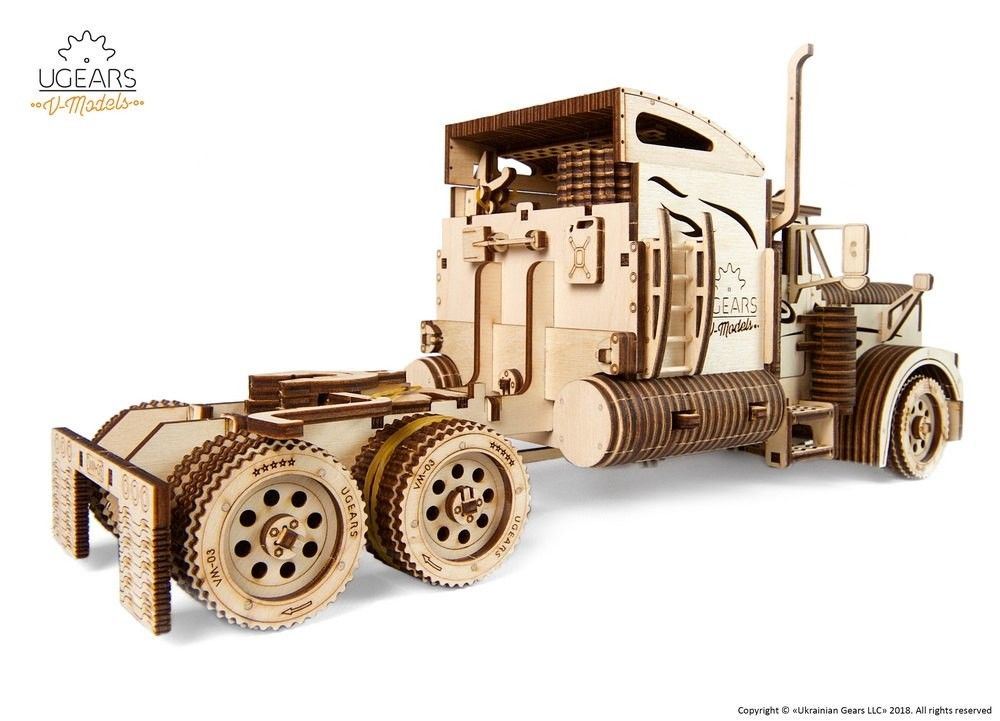 UGears Heavy Boy Truck VM-03 - 541 pieces (Advanced) - Click Image to Close