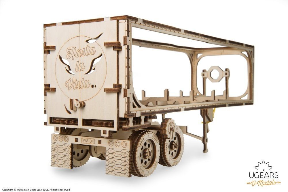 UGears Trailer for Heavy Boy Truck VM-03 - 138 pieces (Medium) - Click Image to Close