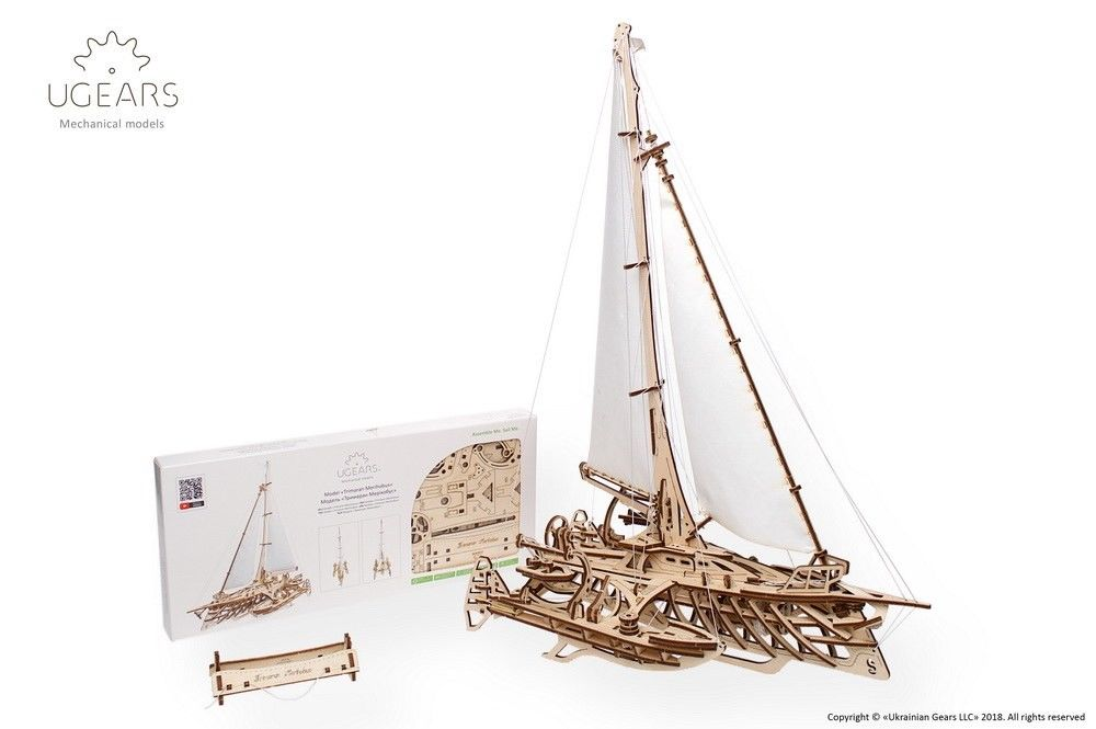 UGears Trimaran Merihobus Boat - 237 pieces - Click Image to Close