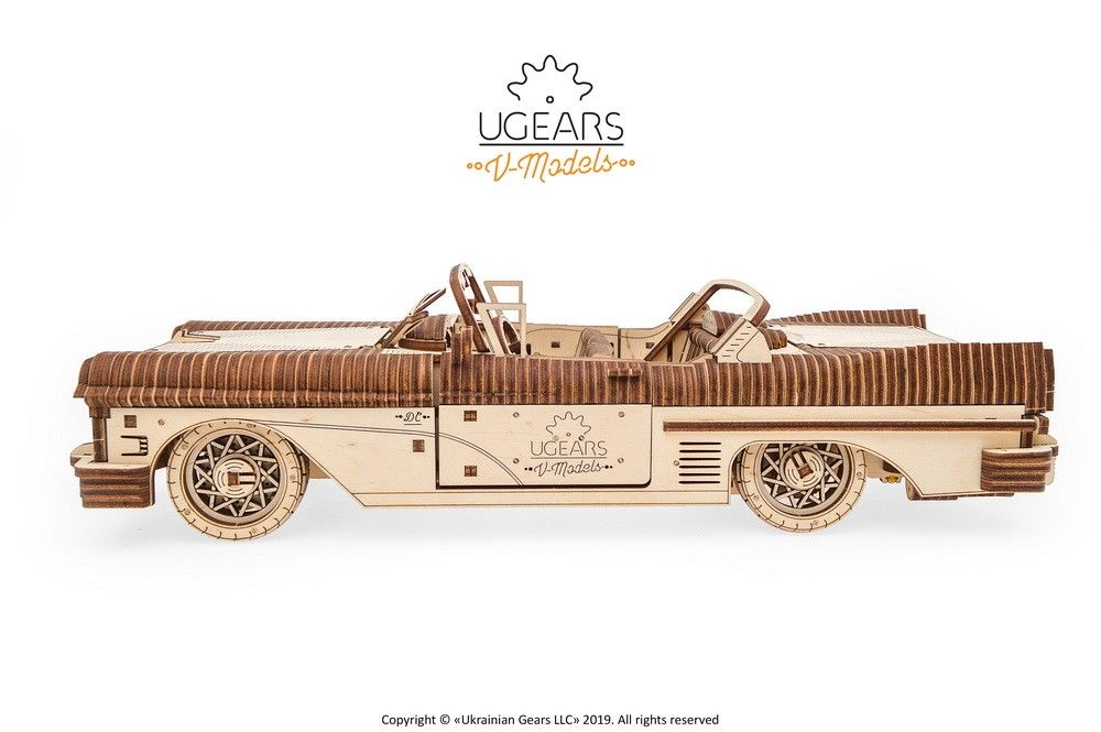UGears Dream Cabriolet VM-05 - 739 pieces (Advanced) - Click Image to Close