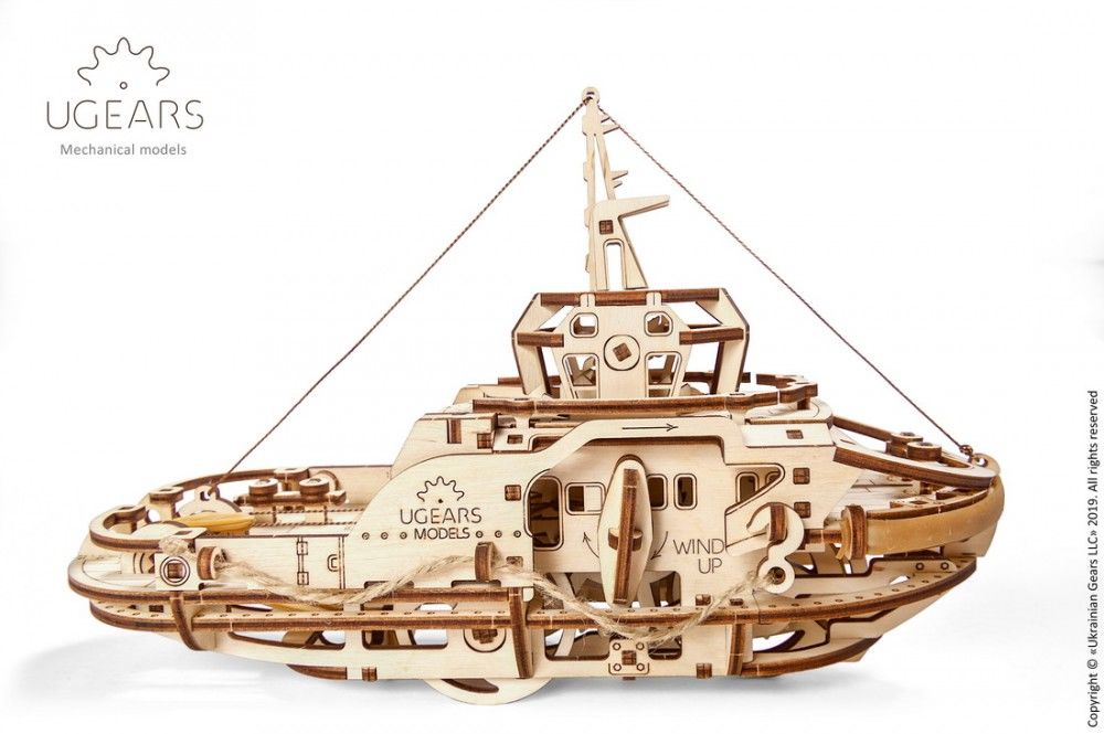 UGears Tugboat - 169 pieces (Easy) - Click Image to Close