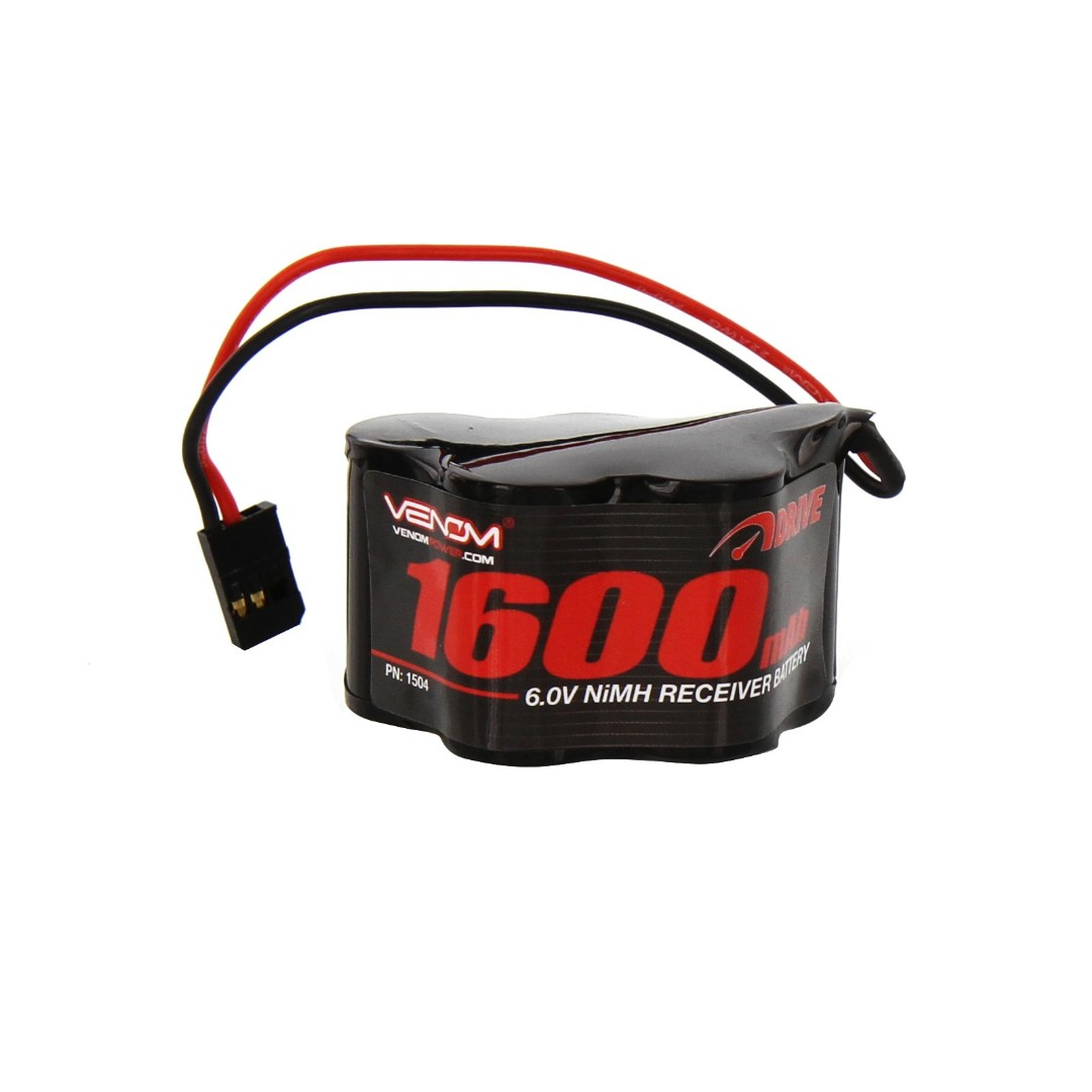 Venom 6V 1600mAh 5-Cell Hump Receiver NiMH Battery 50 x 29 x 31