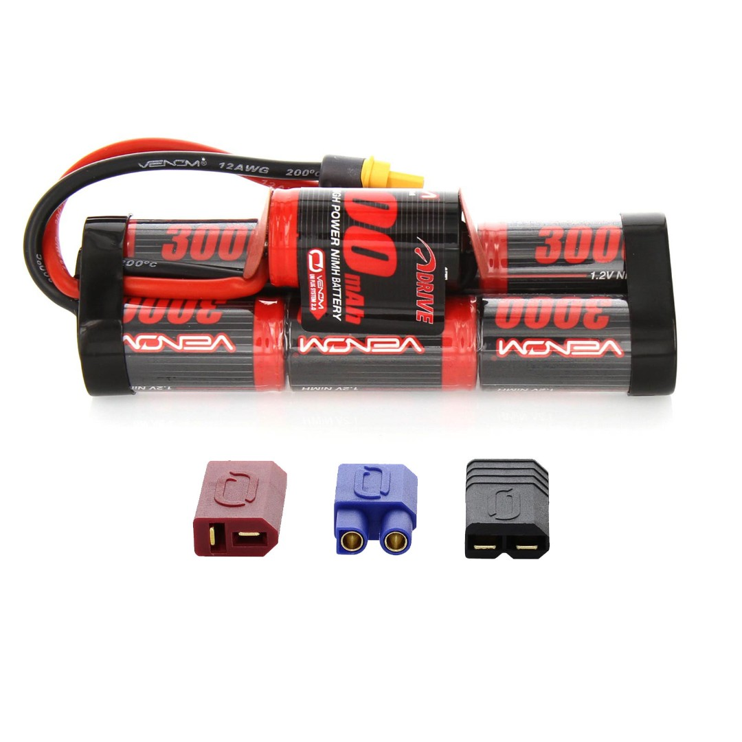 Venom 8.4v 3000mAh 7-Cell Hump Pack NiMH Battery with Universal