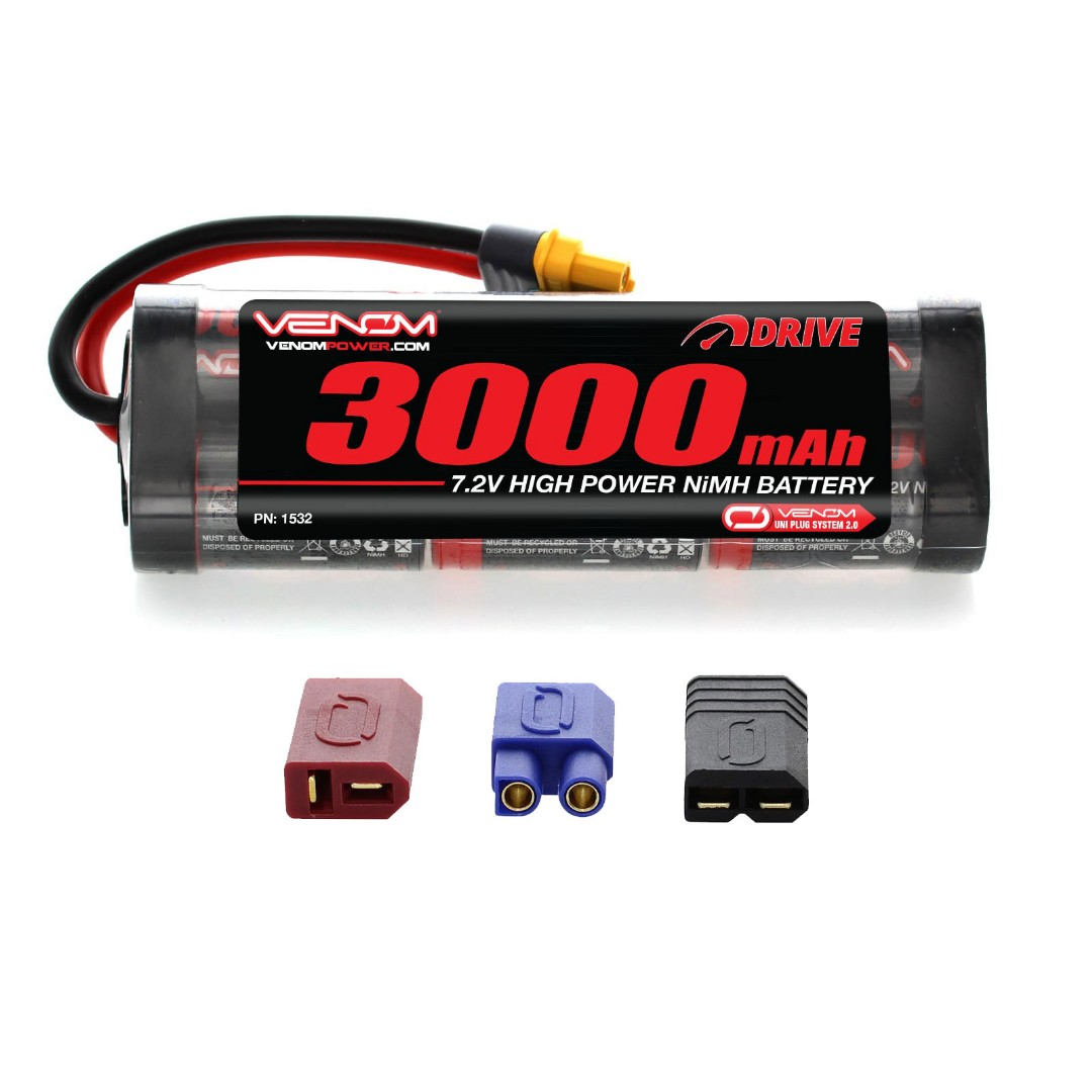 Venom 7.2v 3000mAh 6-Cell NiMH Battery with Universal Plug