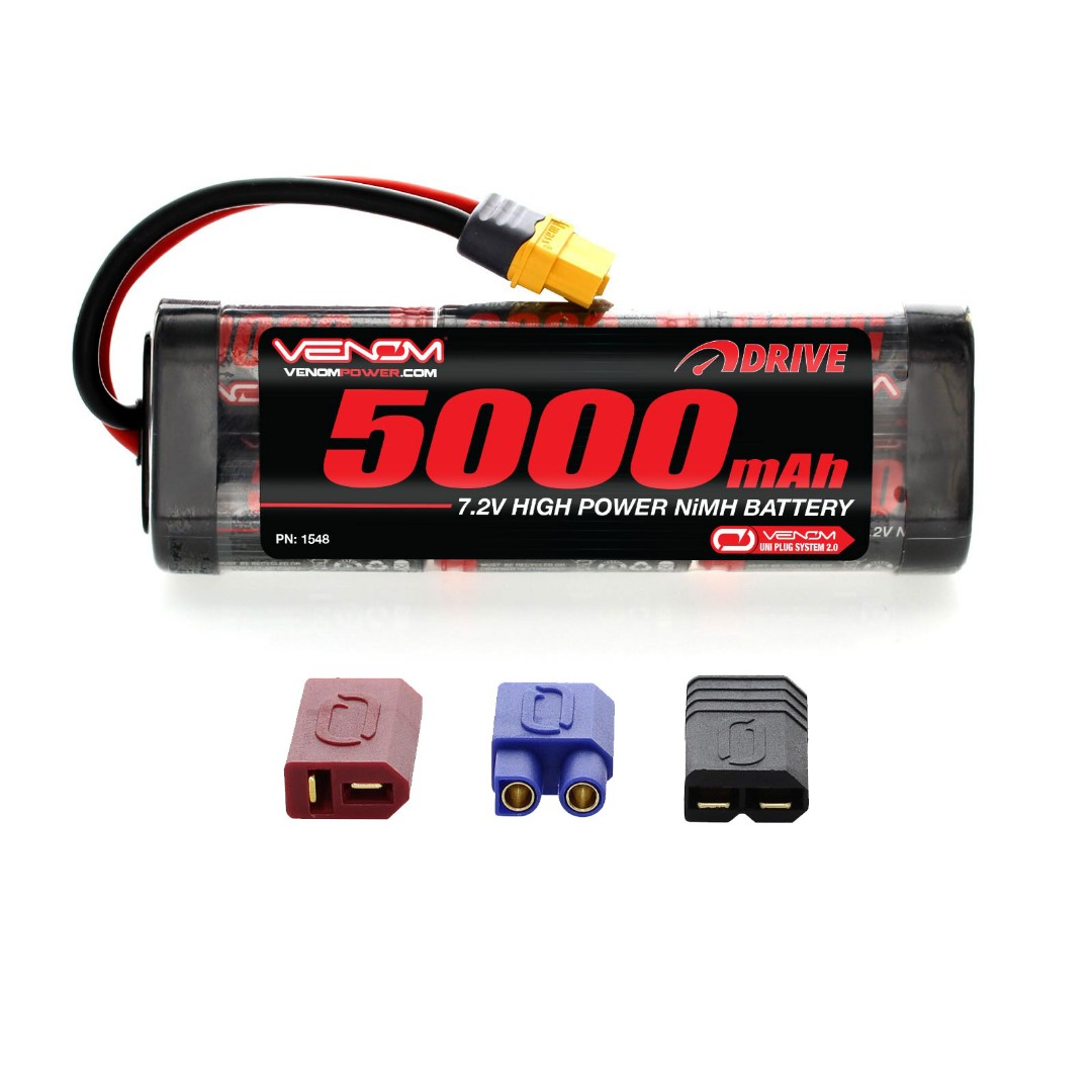 Venom 7.2v 5000mAh 6-Cell NiMH Battery with Universal Plug